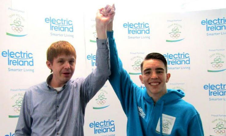 Photo of me with a work colleague at Electric Ireland
